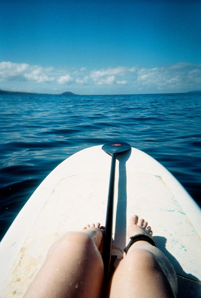 "A calm morning out at sea (also, add this to the ""trying new things"" category -- standup paddle boarding is awesome)."