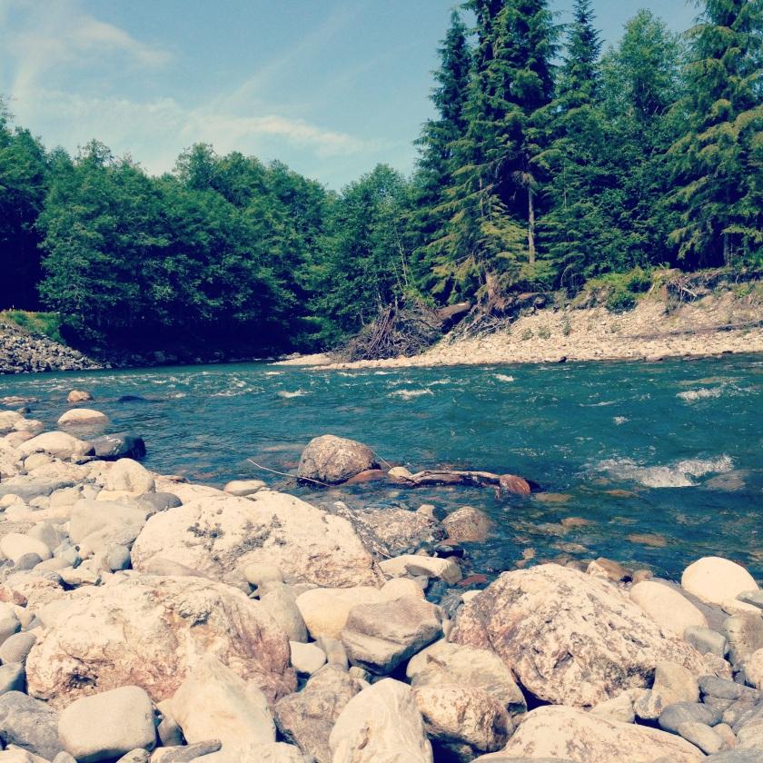 Stillaguamish River on Mountain Loop Highway