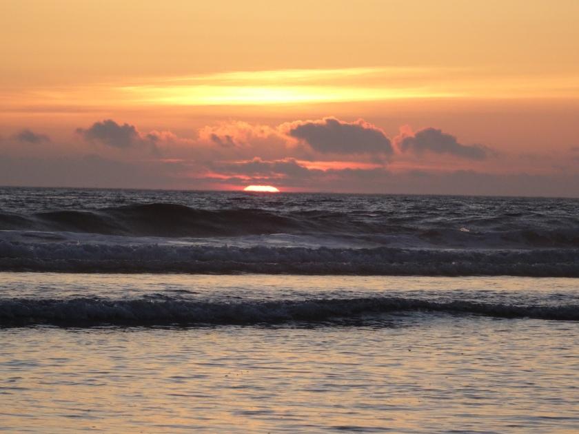 Sunset at Manzanita Beach. Photo by Laura Dedon Oxford.
