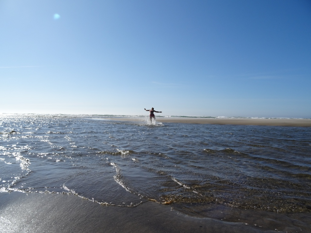 Swimming at Manzanita Beach. Photo by Laura Dedon Oxford.