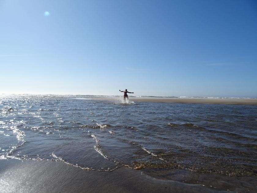 Swimming at Manzanita Beach. Photo by Laura Dedon Oxford.