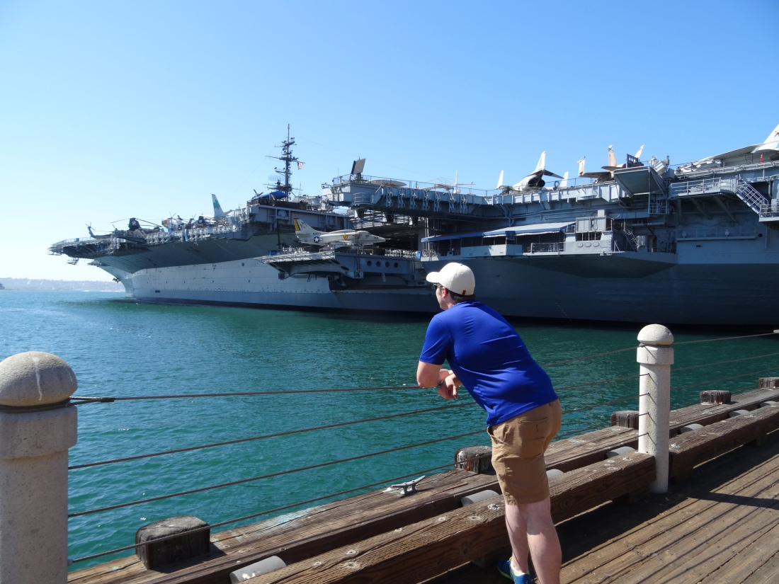 USS Midway in San Diego.