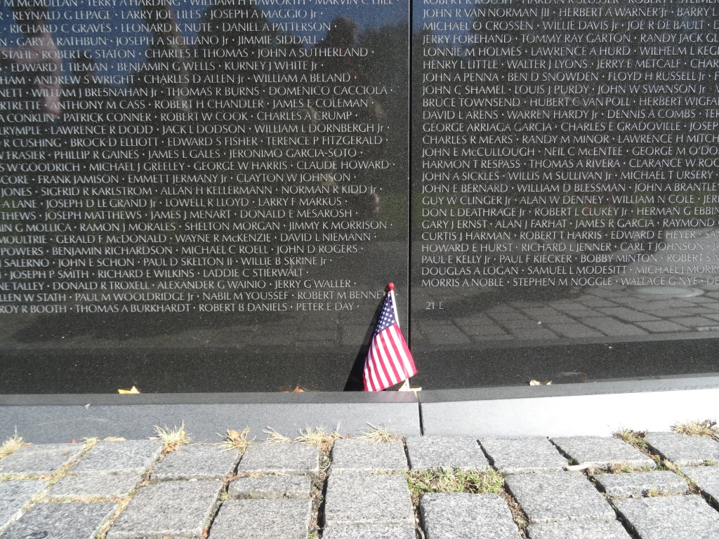 The Vietnam Veterans Memorial.